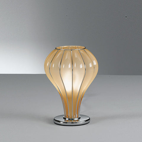 Elegant modern handblown table lamp in 3 lovely Murano glass finishes