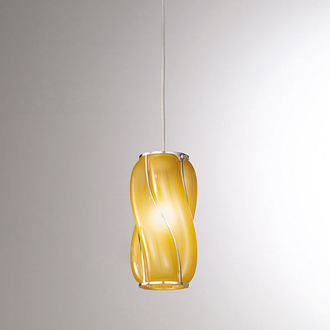 Small modern Murano glass ceiling pendant in custom colours