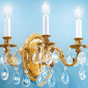 Italian Wall Sconce with Bohemian Crystals