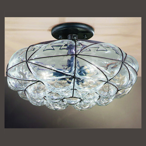 Venetian Glass Bowl Ceiling Light