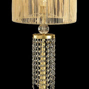 Golden Swarovski crystal and Murano glass table light