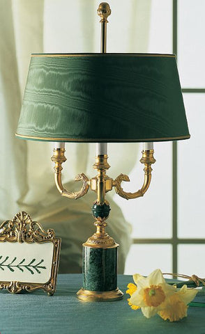 Green Issorie Marble Lamp From Italy Gold And Green Italian