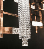 Stunning modern Italian wall light with engraved or prismatic crystal diffusers