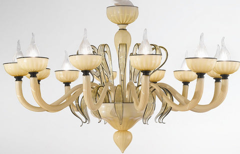 Champagne venetian glass chandelier dolce vita murano 12 light champagne coloured 12 light venetian glass chandelier aloadofball Image collections