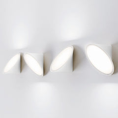 White Scandi style Orchid LED wall and ceiling light