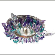 Green, Blue & Purple Swarovski Elements Ceiling Spotlight