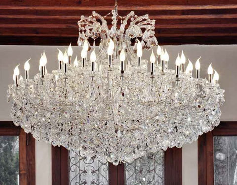 Large Crystal Maria Theresa Chandelier