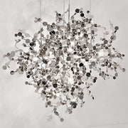 Argent 76 cm silver metal disc ceiling light by Terzani