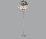Floor lamp with glass crystals and gold animals