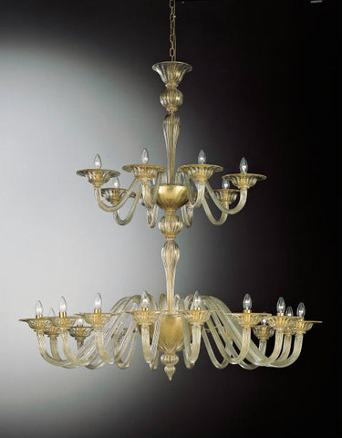 Two tier large Murano Glass Chandelier
