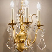 Italian Wall Light with Bohemian Crystal Decoration
