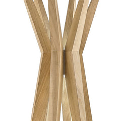 Modern oak wood floor lamp from Italy with 12 LED lights