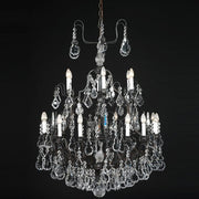 Metre wide 18 arm Bohemian crystal chandelier