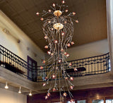 2.5 metre Boccioli chandelier in 5 crystal colours