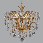 Classically Designed Gold Ceiling Light with Swarovski Elements