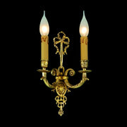 Gold-plated cast brass wall sconce