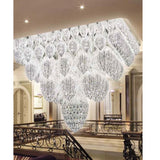 Customizable modern statement chandelier with Asfour crystals
