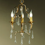 Three Arm Gold Chandelier