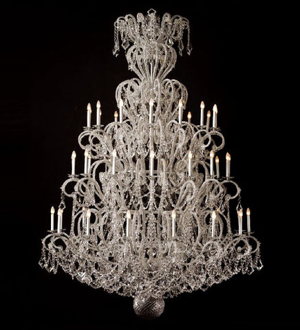 45 Light Silver Hotel Chandelier