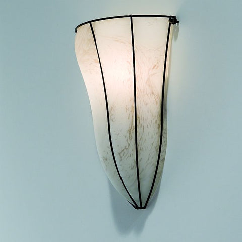 Tobacco marbled alabaster Venetian wall lamp