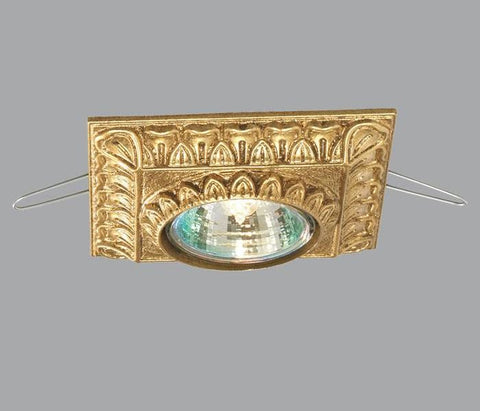 Gold Metal Square Decorated Ceiling Spotlight