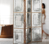 Hand-engraved Venetian mirrored glass screen