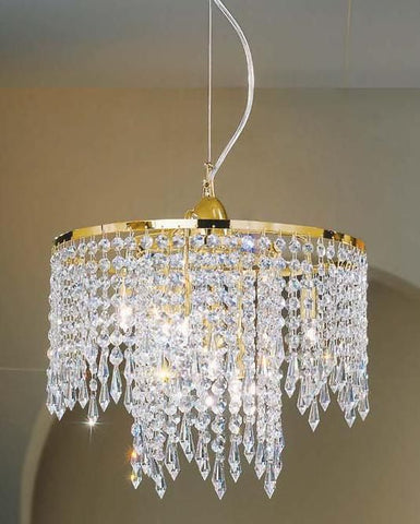 Ceiling pendant with Swarovski pendants & crystals