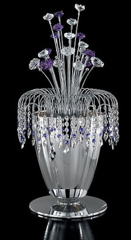 Violet Murano glass and Swarovski crystal table light