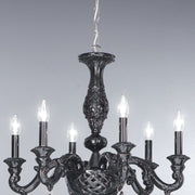 Cima Bassano porcelain 6 light chandelier