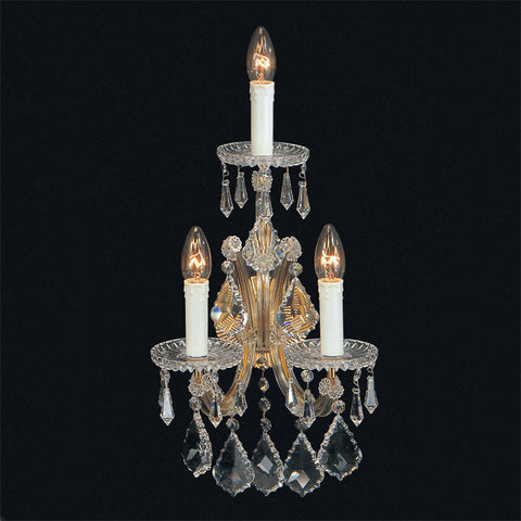 Maria Theresa 3 light crystal wall chandelier from Italy