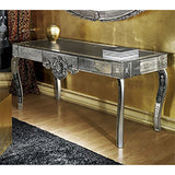 Exquisite Venetian mirrored & engraved glass console table