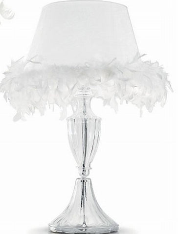 Baroque Murano Glass Feathered Table Lamp