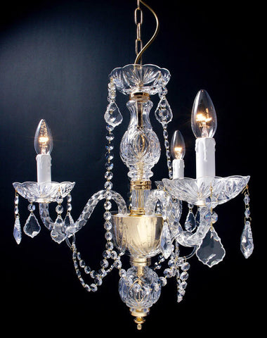 3 light 24% lead crystal chandelier from Italy