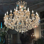 Topaz Glass Chandelier