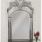 Hand-crafted and hand-engraved Venetian wall mirror