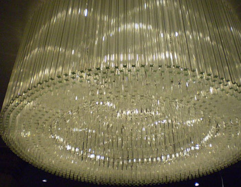 2.5 Metre Murano Glass Prism Chandelier