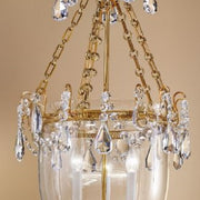 Blown Glass and Bohemian Crystal Lantern