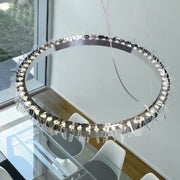 Eos methacrylate & chrome ceiling pendant from Patrizia Volpato