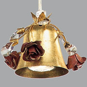 Suspended Gold Metal Spotlight with Roses & Swarovski Elements