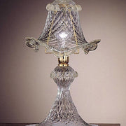 Bell-shaped Murano glass table light
