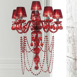 White, red or black chandelier wall light with shades
