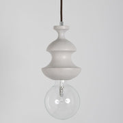 Modern White Oak Finished Chess Bishop Suspension Ceiling Light
