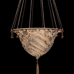 Fortuny style pendant light with art nouveau design