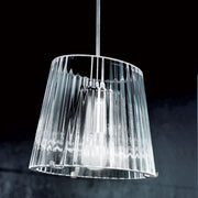 Simple clear or white glass ceiling pendant from Italy
