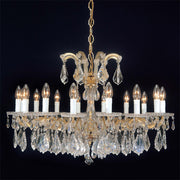 Maria Theresa chrome or gold chandelier with 3 crystal choices