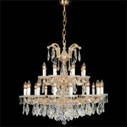 Strass 30% lead crystal 24 light Maria Theresa chandelier