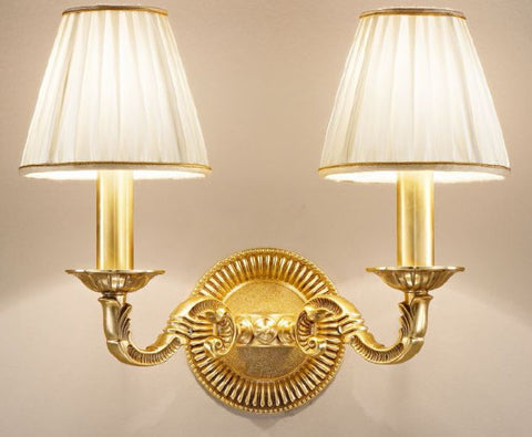 Traditional Wall Light with Shades