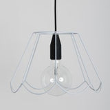 Modern Iron & Silicon Black Suspension Ceiling Light