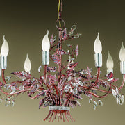 Blackened Red Bouquet Chandelier