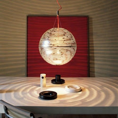 Magdalena white gold or nickel ceiling globe by Terzani